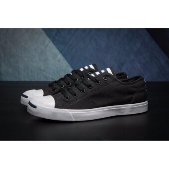 Jack Purcell LP Stripes Converse Black Low Top Canvas Sneakers