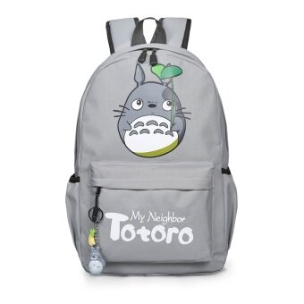 Japan Totoro 44*13*30cm College Middle High School Canvas TravelBag Backpack(Color:Main Pic) - intl