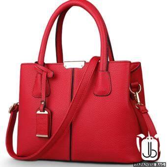 Japanese Bag กระเป๋าถือผู้หญิงทรงยุโรปและอเมริกา หนังแท้ (สีแดง)