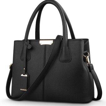 Japanese Bag กระเป๋าถือผู้หญิงทรงยุโรปและอเมริกา หนังแท้ (สีดำ)