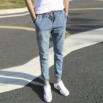 Jeans 2017 Casual Jeans Men Denim Harem Pants Long Joggers MenStreet Trousers - intl