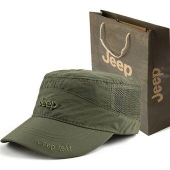 JEEP quick dry hat hat cap for men and women outdoor sunshade sports sun hat - intl