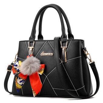 ผู้หญิงกระเป๋าฤดูใบไม้ผลิและฤดูร้อนกระเป๋าใหม่ (ผ้าพันคอฝังถุงสีดำ)