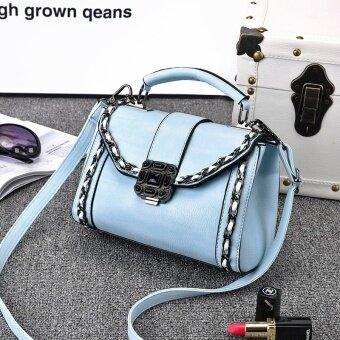 Jianyue ฤดูใบไม้ผลิและฤดูร้อนใหม่ของ Messenger กระเป๋าสะพายกระเป๋าถือ (ท้องฟ้าสีฟ้า)