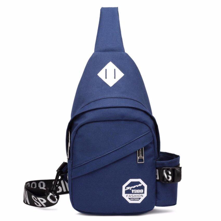 JJUN กระเป๋าสะพายไหล่ คาดอก-9840 (สีน้ำเงิน)