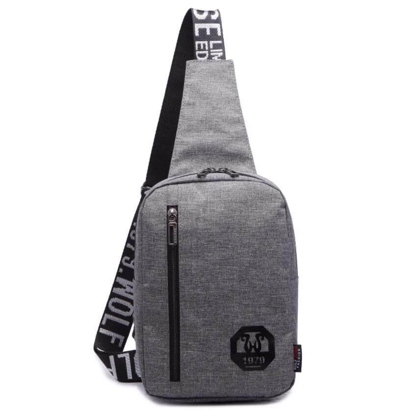 JJUN กระเป๋าสะพายไหล่ คาดอก สะพายเฉียง K68(สีเทา)
