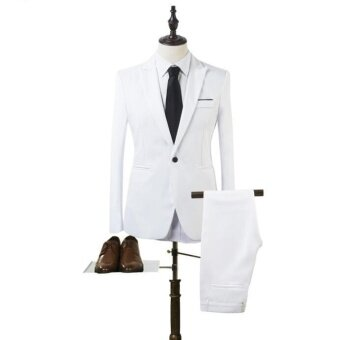 Harga JOY Korea Korean fashion Business suit two piece suit White - intl