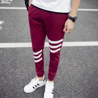 Harga JOY Korea Korean fashion Men's casual pants Slim(Red) - Intl