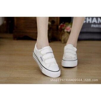 ่่JOY SELECTION รองเท้าผ้าใบเสริมความสูง3.7 ซม k022 สีขาว - 4