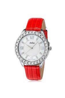 ประเทศไทย Julius นาฬิกาสำหรับผู้หญิง สายหนัง รุ่น JA-379 แดง