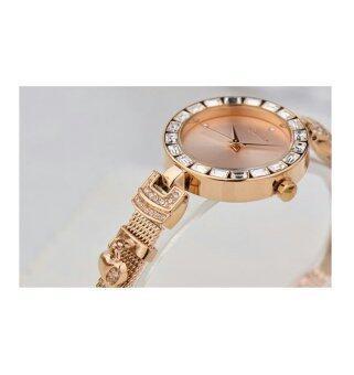 Julius นาฬิกาข้อมือผู้หญิง สายสแตนเลส รุ่น JA-491 - สีพิ้งค์โกลด์ - 4