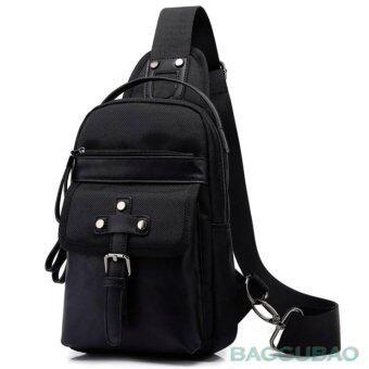 กระเป๋าสะพาย กระเป๋าถือ เป้ เป้สะพายหลัง เป้คาดอก สำหรับ iPadmini ชาย หญิง กันซึมน้ำ รุ่น KAKA99007 ( ดำ )