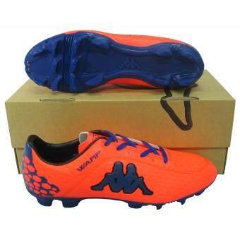 ราคา รองเท้าฟุตบอล รองเท้าสตั๊ด KAPPA 15F6 WARP FG ส้มน้ำเงิน