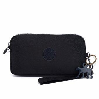 Harga Klpllng Fashion Women's Canvas Wallet(Black) - intl