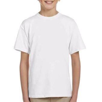 Kluay® ( สีขาว ) เสื้อยืด สีขาว คอกลม เสื้อยืดสีพื้น เสื้อเปล่า Cotton เนื้อผ้านุ่ม ใส่สบาย เสื้อยืดเด็กสีขาว เสื้อยืดแขนสั้น สำหรับเด็ก เสื้อผ้าเด็ก เสื้อผ้าเด็กน่ารัก ผ้าฝ้าย Cotton 100% สำหรับเด็ก 7-8 ขวบ