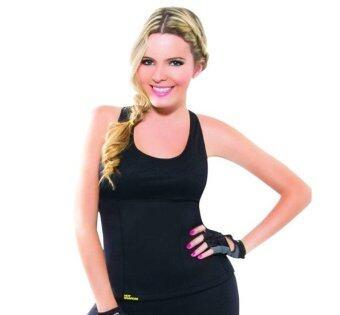ราคา KMW เสื้อโยคะเรียกเหงื่อ เสื้อออกกำลังกายรีดเหงื่อ Hot Yoga Shapers (สีดำ)