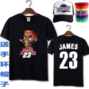 เจมส์ KNIGHT 23 ฉบับที่แขนสั้นเสื้อยืดเสื้อบาสเกตบอล (เจมส์ 9)