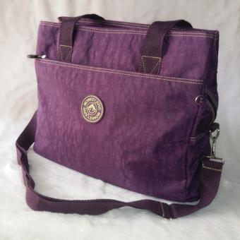 KOREA กระเป๋าสะพายไหล่-สะพายข้างผ้ากันน้ำ รุ่น G008-9-1(สีม่วง)