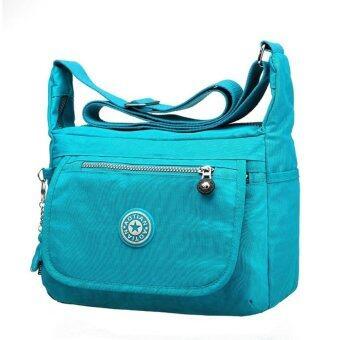 Korea กระเป๋าสะพายผ้ากันน้ำ รุ่น G012-3 - สีฟ้าเข้ม