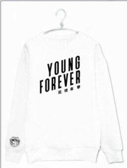 Kpop bts bangtan boys young forever album printing o neck\nsweatshirt plus size unisex pullover hoodies fashion men women\nmoletom - intl