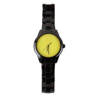 ราคา นาฬิกาเรืองแสง Kraftworxs Full Moon Black Ceramic - Yellow