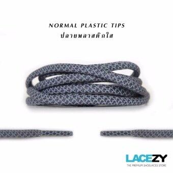 Lacezy เชือกรองเท้าสะท้อนแสง 3M REFLECTIVE กลม สีเทา - ความยาว 90ซม. - 3