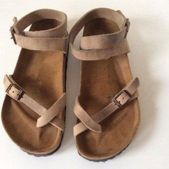 LALANG Cork Gladiator Beach Shoes Slippers Unisex Lovers SandalsFlats (Coffee) - intl
