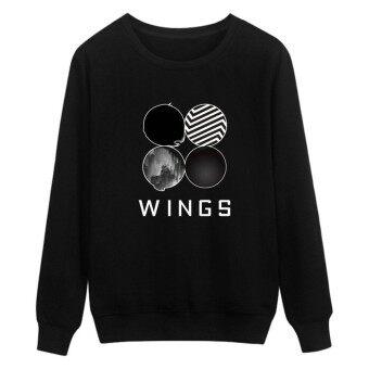 LALANG Unisex Hoodie Sweater BTS Bangtan Boys Clothes Long Sleeve Women Men Sweater - intl