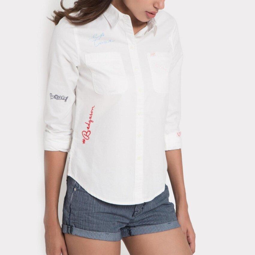 แนะนำ เสื้อเชิ๊ตแขนยาว รุ่น LE 16026110 สี WHITE0 มาใหม่