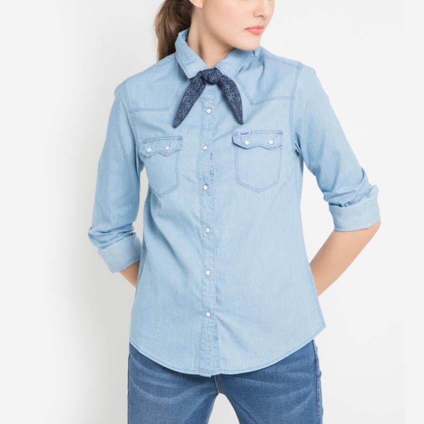 แนะนำ เสื้อเชิ๊ตยีนส์ รุ่น LE 16026115 สี INDIG0 รีวิวสินค้า