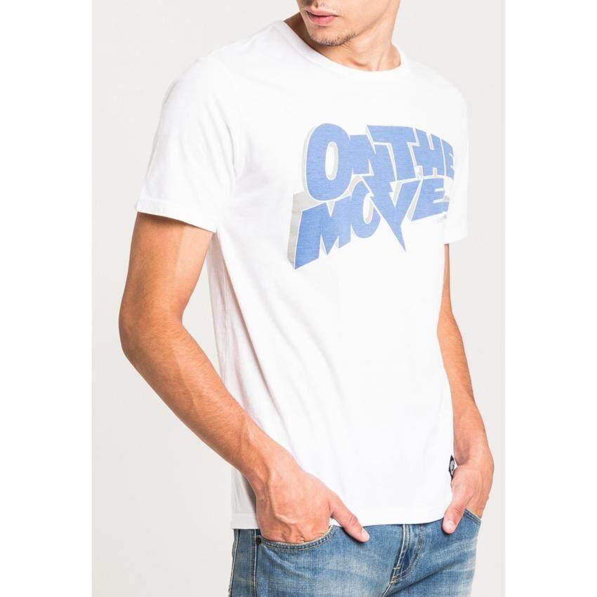 แนะนำ เสื้อยืดคอกลมแขนสั้น รุ่น LE 17001019 สี WHITE0 เปรียบเทียบราคา