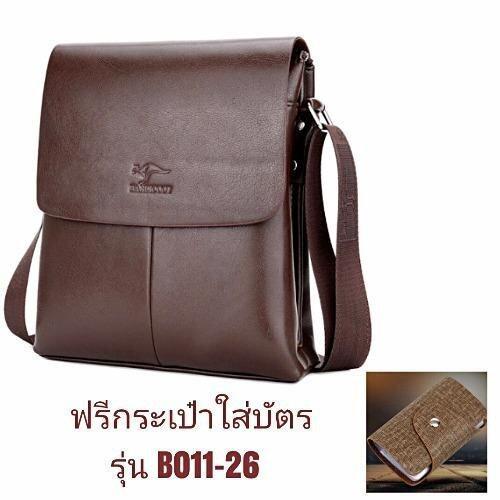 Leather Linc กระเป๋าสะพาย ผู้ชายห นังแท้ รุ่น K507-M สีน้ำตาล แถมฟรีกระเป๋าใส่บัตรรุ่นB011-26 หนึ่งใบมูลค่า390บาท