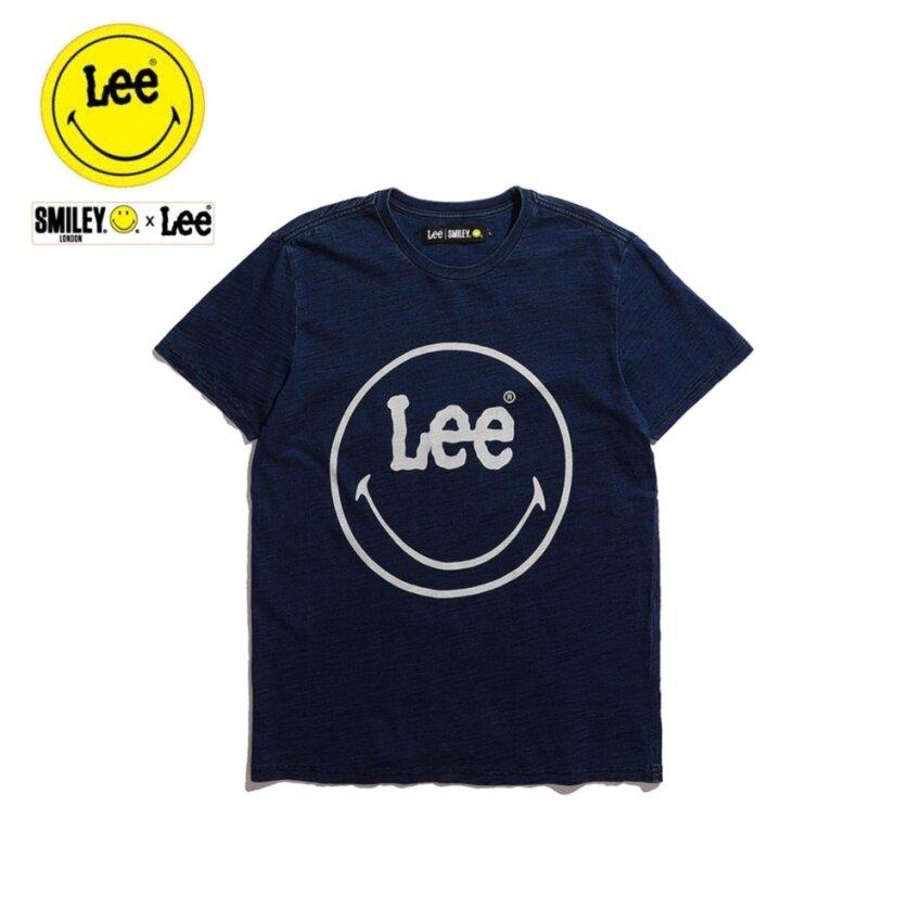 ข้อมูล Lee x Smiley เสื้อยืดคอกลมแขนสั้น รุ่น LE 17001S03 สี INDIG0 รีวิวสินค้า
