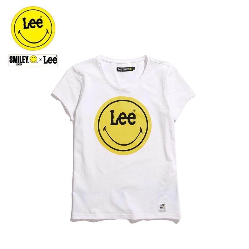 เปรียบเทียบราคา Lee x Smiley เสื้อยืดคอกลมแขนสั้น รุ่น LE 17021S02 สี WHITE0 รีวิว