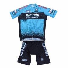 LeeBicycle ชุดสั้นปั่นจักรยานลายทีม Bianchi ยี่ห้อ:กางเกงเป้าเจล แบบ:ผู้ชาย/ผู้หญิง
