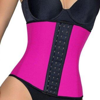 Leegoal Women Waist Cincher Weight Loss Belly Trainer Corset Body ShapewearRose - intl