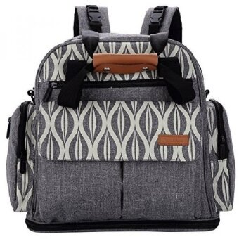 Lekebaby Expandable Diaper Bag Backpack Tote Messenger Bag for Mom and Girl in Grey - intl