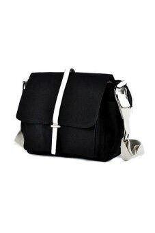 จัดโปรโมชั่น Lily กระเป๋าสะพายข้าง ผู้ชาย ผ้า Canvas รุ่น LC0012 (สีดำ)