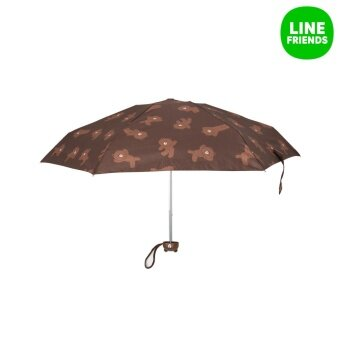 LINE FRIENDS FIVE-FOLD MINI UMBRELLA_BROWN