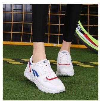 LIVNG TO CREATE รองเท้าผ้าใบแฟชั่นเกาหลี Size 36-39 สีขาวน้ำเงิน