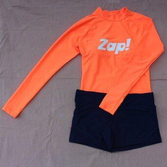 LOINCLOTH ชุดว่ายน้ำแขนยาว ทรงสปอร์ต สีส้มนีออน