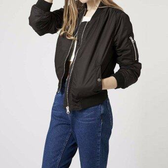 Long Sleeve Slim Jackets ZANZE A Women 2016 Autumn Winter Vintage Stand Collar Celeb Bomber Coats Casual Solid Outwear Plus Size Black - intl