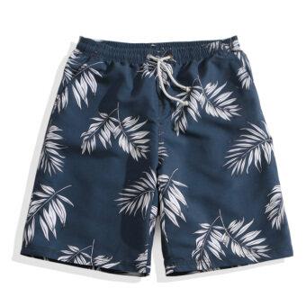 SU LANG กางเกงห้าส่วน สำหรับบุรุษ ไซส์ใหญ่ (สีฟ้าใบปาล์ม)