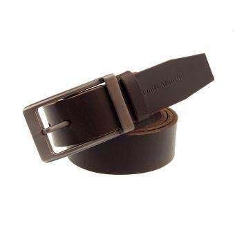 Louis Montini Classic Belt เข็มขัดหนังวัวแท้ เข็มขัดหนังแท้หัวเข็มขัดซิงค์อัลลอย เข็มขัดผู้ชาย รุ่น MGN119 สีน้ำตาลเข้ม