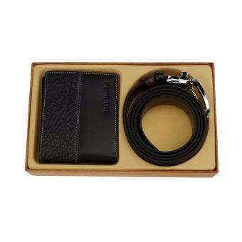 Louis Montini Gift Set Wallet and Beltกิ๊ฟเซ็ทกระเป๋าธนบัตร+เข็มขัด กิ๊ฟเซ็ทกระเป๋า กระเป๋าสตางค์ และเข็มขัดหนังแท้ รุ่น TTM055 MGN201 (LM-GS103)