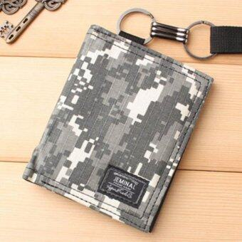 Man Short Camouflage Wallet Creative Personality Doodle Man Wallet Retro Youth Student Leisure Simple Fashion - intl