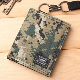 Man Short Camouflage Wallet Creative Personality Doodle Man WalletRetro Youth Student Leisure Simple Fashion - intl