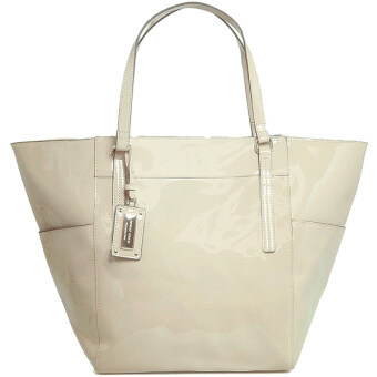 Harga Mango Lady TSAR Tote Artificial Leather กระเป๋าหนัง Shopping Bag -White สีขาว
