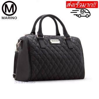 Marino กระเป๋า กระเป๋าถือสีดำ กระเป๋าสะพายสีดำสำหรับผู้หญิง รุ่น 0207 - สีดำ