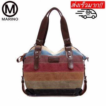 Marino กระเป๋า กระเป๋าสะพาย กระเป๋าสะพายผู้หญิง ผ้าแคนวาส No. 0168 - Rianbow